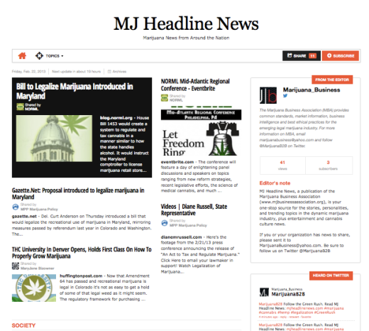 MJ Headline News Debuts